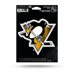 Pittsburgh Penguins Logo Metallic Die-Cut Decal 5x5 Inches F