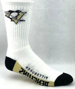 Pittsburgh Penguins Men's White Crew Socks New