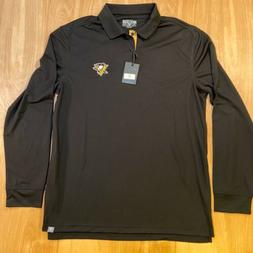 Pittsburgh Penguins Mens Long Sleeve Polo Shirt Men's Larg