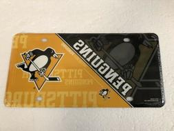 PITTSBURGH PENGUINS METAL LICENSE PLATE COVER GREAT GIFT YIN