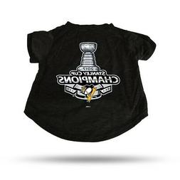 Pittsburgh Penguins NHL 2017 Stanley Cup Champions Pet T-Shi
