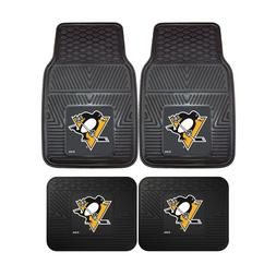 Pittsburgh Penguins NHL 2pc and 4pc Mat Sets - Heavy Duty-Ca