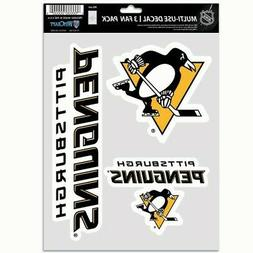 PITTSBURGH PENGUINS 3 PIECE MULTI-USE DECAL FAN PACK PERFECT