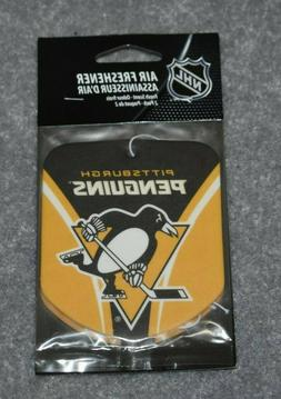PITTSBURGH PENGUINS NHL HOCKEY 2-PACK AIR FRESHENER FRESH SC