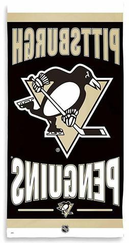 Pittsburgh Penguins NHL Hockey Beach Towel 30 x 60 100% Cott