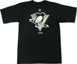 Pittsburgh Penguins Reebok NHL Logo Black T-Shirt