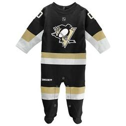Pittsburgh Penguins NHL Newborn Black Long Sleeve Jersey Sty