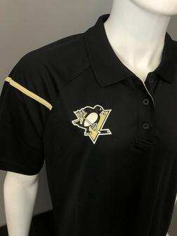 Pittsburgh Penguins Polo Shirt - Reebok Black Performance Pl