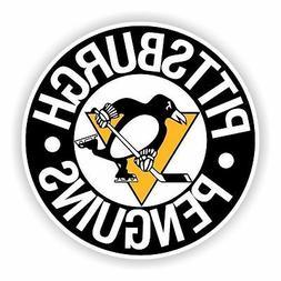Pittsburgh Penguins Round Decal / Sticker Die cut