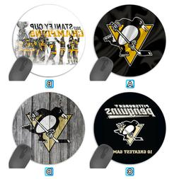 pittsburgh penguins sport round computer mouse pad