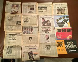 PITTSBURGH PENGUINS STANLEY CUP And various NEWSPAPERS Lot