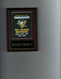 PITTSBURGH PENGUINS STANLEY CUP PLAQUE CHAMPS CHAMPIONS HOCK