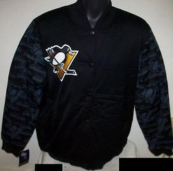 PITTSBURGH PENGUINS STARTER Varsity Jacket Penguin Logo Slee