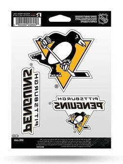 Pittsburgh Penguins Triple Spirit Sticker Sheet Die Cut Deca