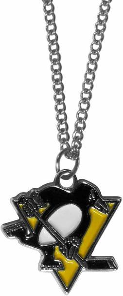 Pittsburgh Penguins unisex chain logo necklace 22 inch adjus