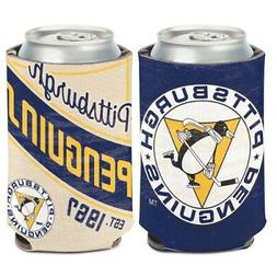 PITTSBURGH PENGUINS VINTAGE STYLE NEOPRENE CAN COOLER COOZIE