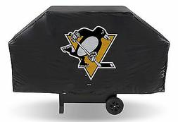 """Pittsburgh Penguins Vinyl Grill Cover  NHL 68"""" Wide Grilling"""
