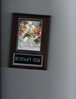 RON FRANCIS PLAQUE PITTSBURGH PENGUINS HOCKEY NHL