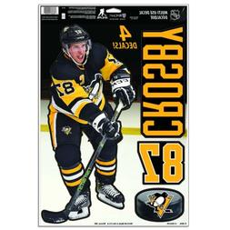 SIDNEY CROSBY PITTSBURGH PENGUINS 4 PIECE MULTI-USE DECALS 1