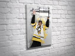 Sidney Crosby Pittsburgh Penguins NHL Canvas Artwork Ready T